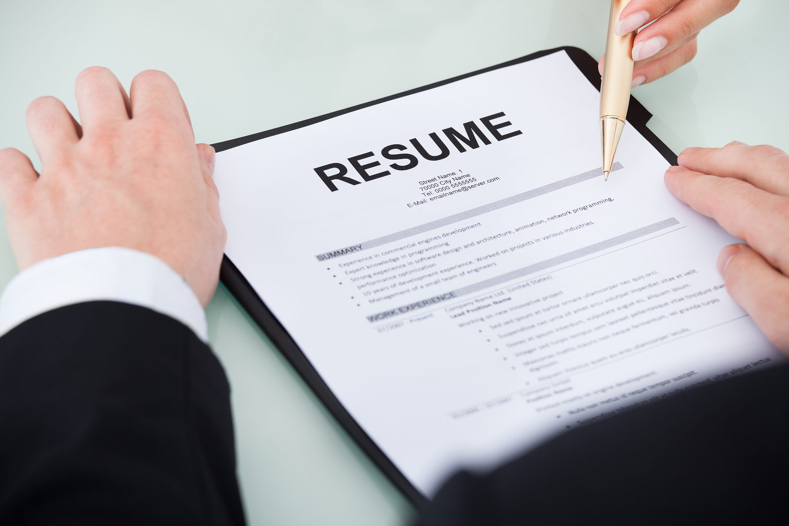 how to write an excellent resume work history